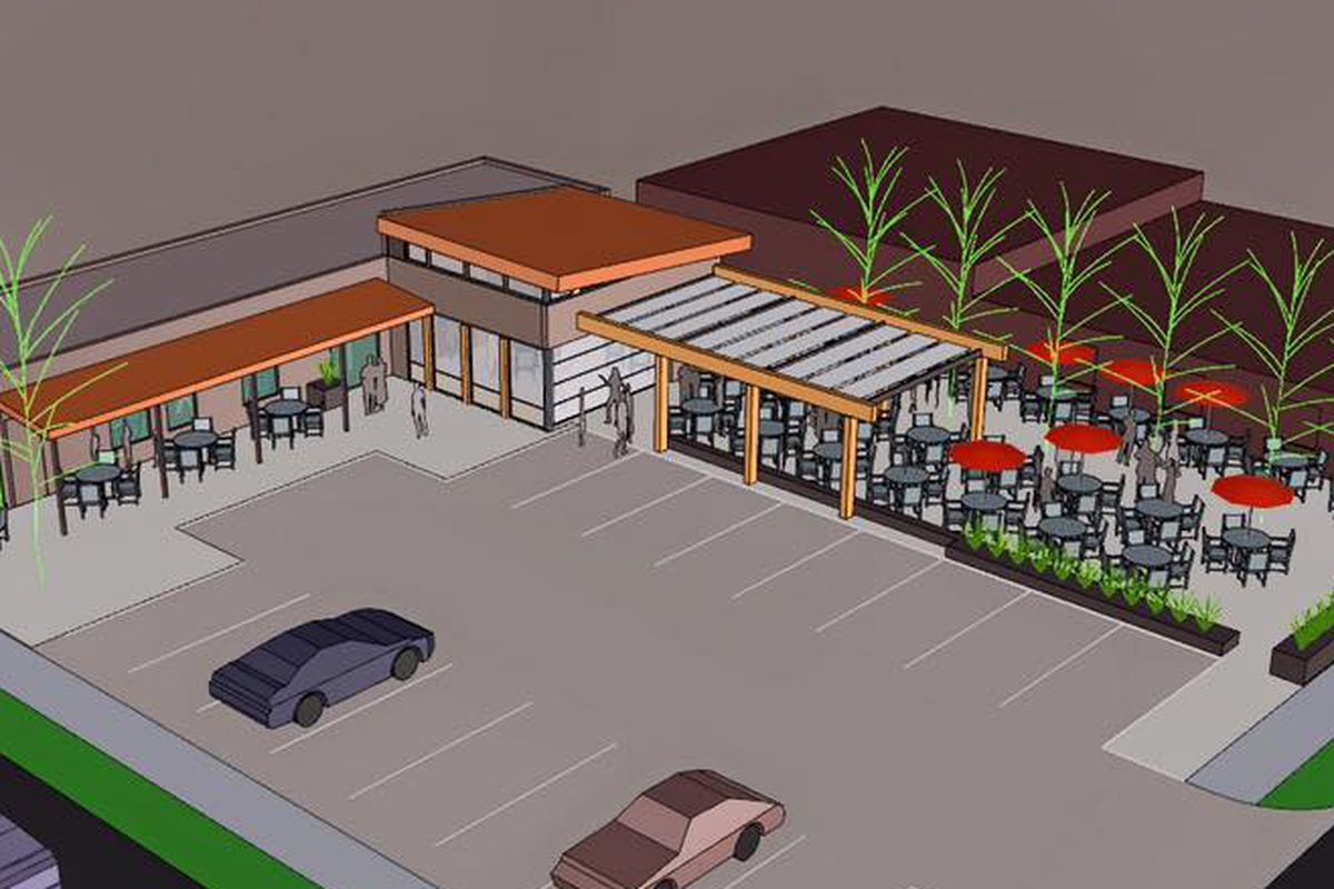 A rendering of Monkey Barrel bar and Carbone's at 4401 Tejon St.