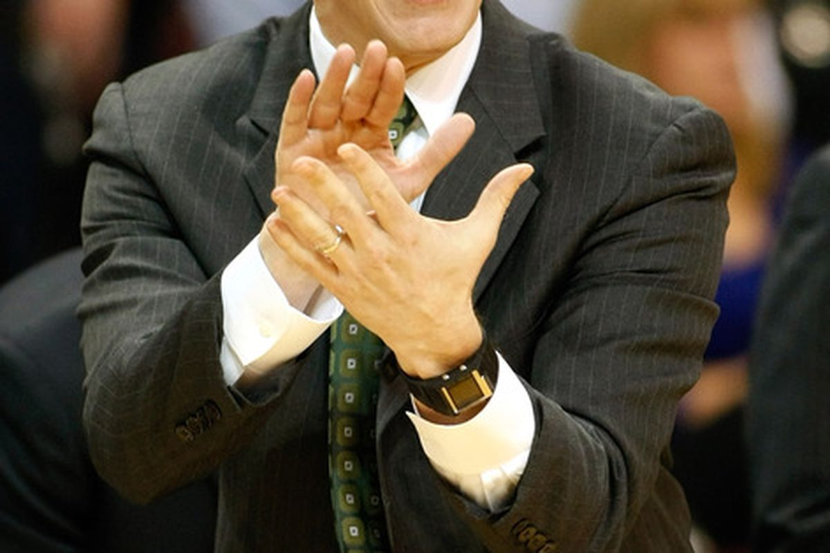 Ohio's John Groce is one of many coaches that Tom Osborne will be looking at to succeed Doc Sadler.  But is Groce the type of coach who can break Nebraska out of it's long-standing basketball mediocrity? (Photo by Ethan Miller/Getty Images)