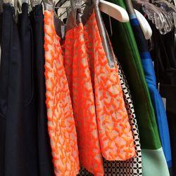 Ostwald Helgason orange embroidered shorts, $178.50 (was $595)