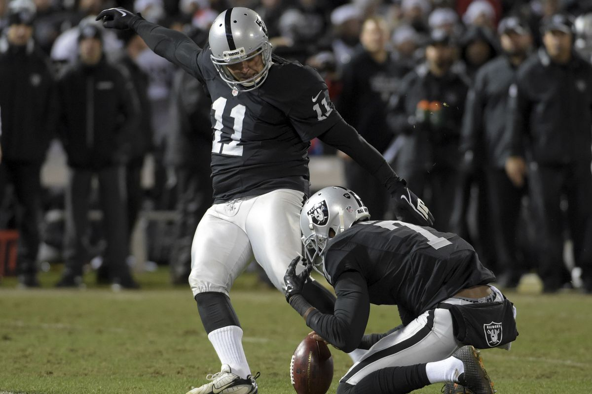 Oakland Raiders kicker Sebastian Janikowski may need to shorten some kickoffs in 2016.