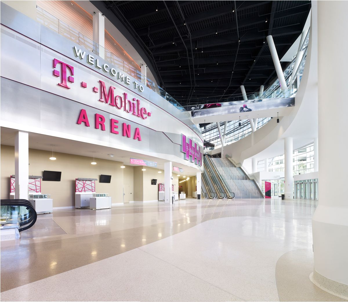 The Lobby Of T Mobile Arena
