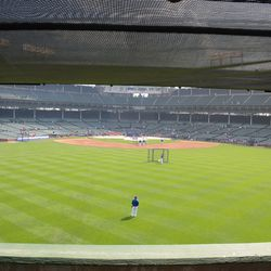 4:16 p.m. The view from the center-field accessible section -
