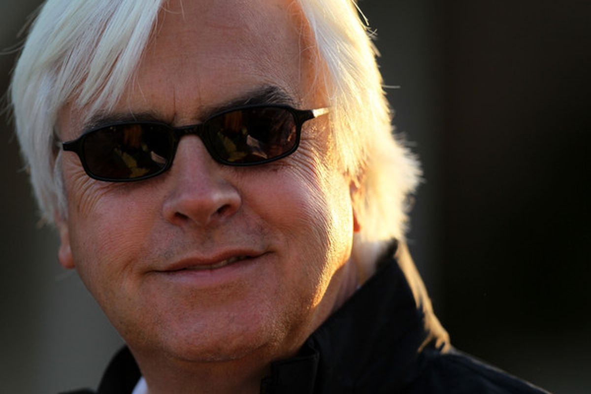 LOUISVILLE, KY - APRIL 30:  Trainer Bob Baffert stands in the paddock area at Churchill Downs on April 30, 2010 in Louisville, Kentucky.  (Photo by Andy Lyons/Getty Images)