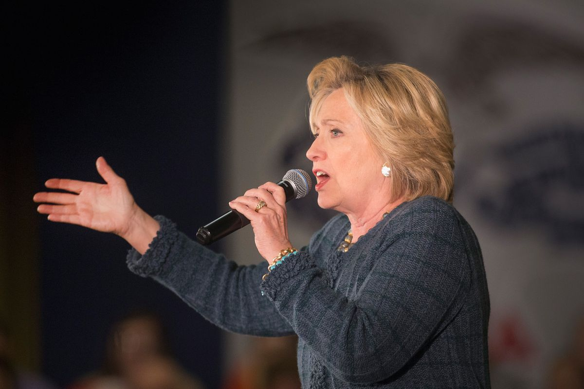 Hillary Clinton at a campaign event in Iowa.