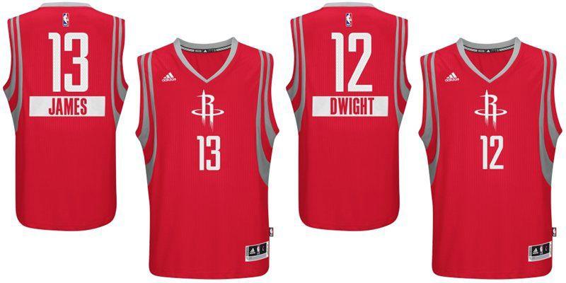 Christmas Jerseys Nba.Nba Unveils 2014 Christmas Jerseys Rockets Edition Included