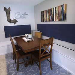 The dining area of a new Salt Lake County Division of Youth Services' Milestone Program house in Sandy is pictured on Wednesday, July 8, 2020. The four-bedroom house was remodeled in partnership with Good Shepherd Lutheran Church and will help provide housing to young adults, ages 18-21, who are experiencing homelessness.