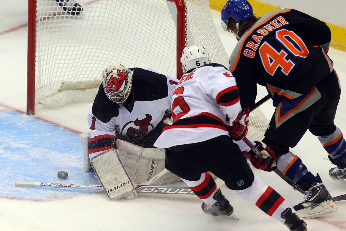 Just one of Moose's 22 saves from this afternoon.  (Not) Sorry, Michael Grabner.
