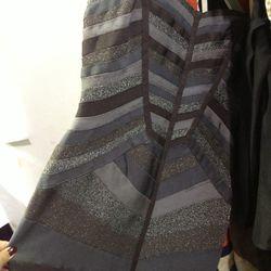 Herve Leger metallic stripe dress, $692