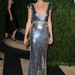 Minnie Driver stuns in silver sequins.