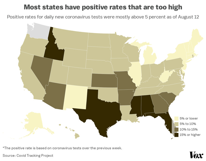 coronavirus_positive_rates_states_map How bad is your state's Covid-19 outbreak?