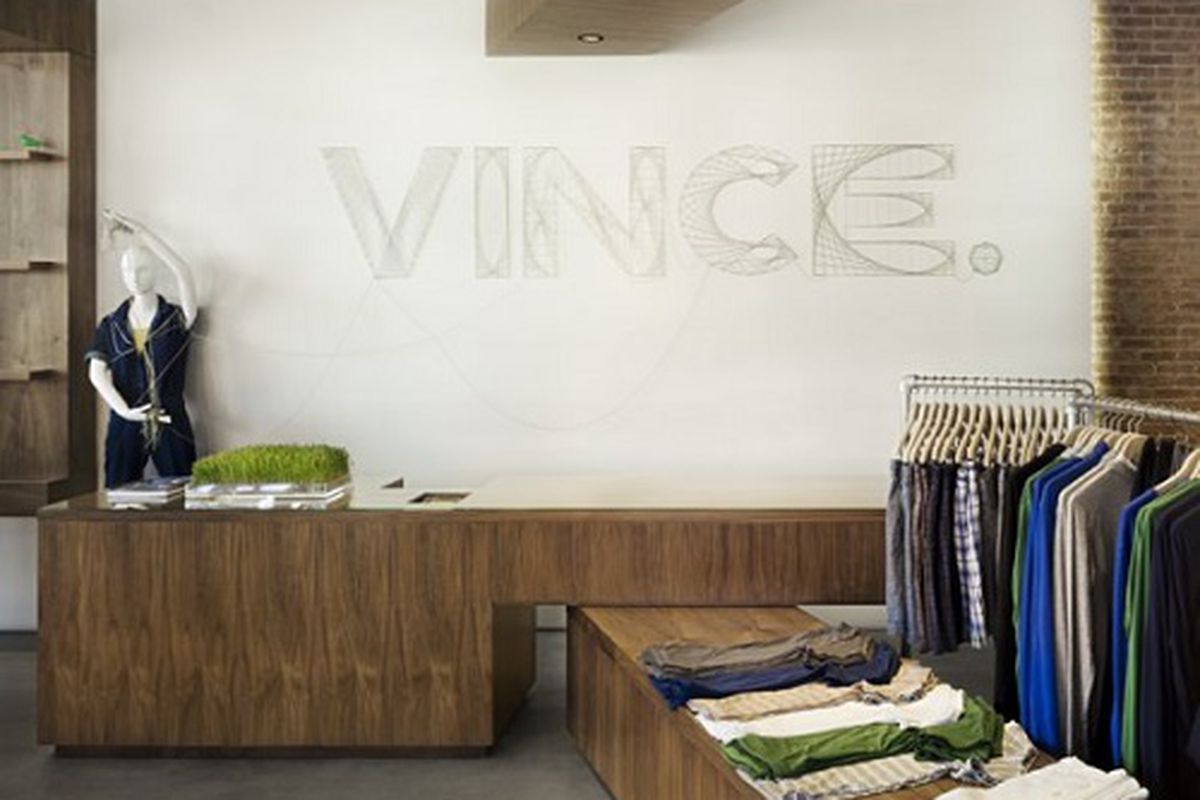"""A Vince store in NYC. Image credit: <a href=""""https://www.facebook.com/VINCESAYS?fref=photo"""">Vince/Facebook</a>"""