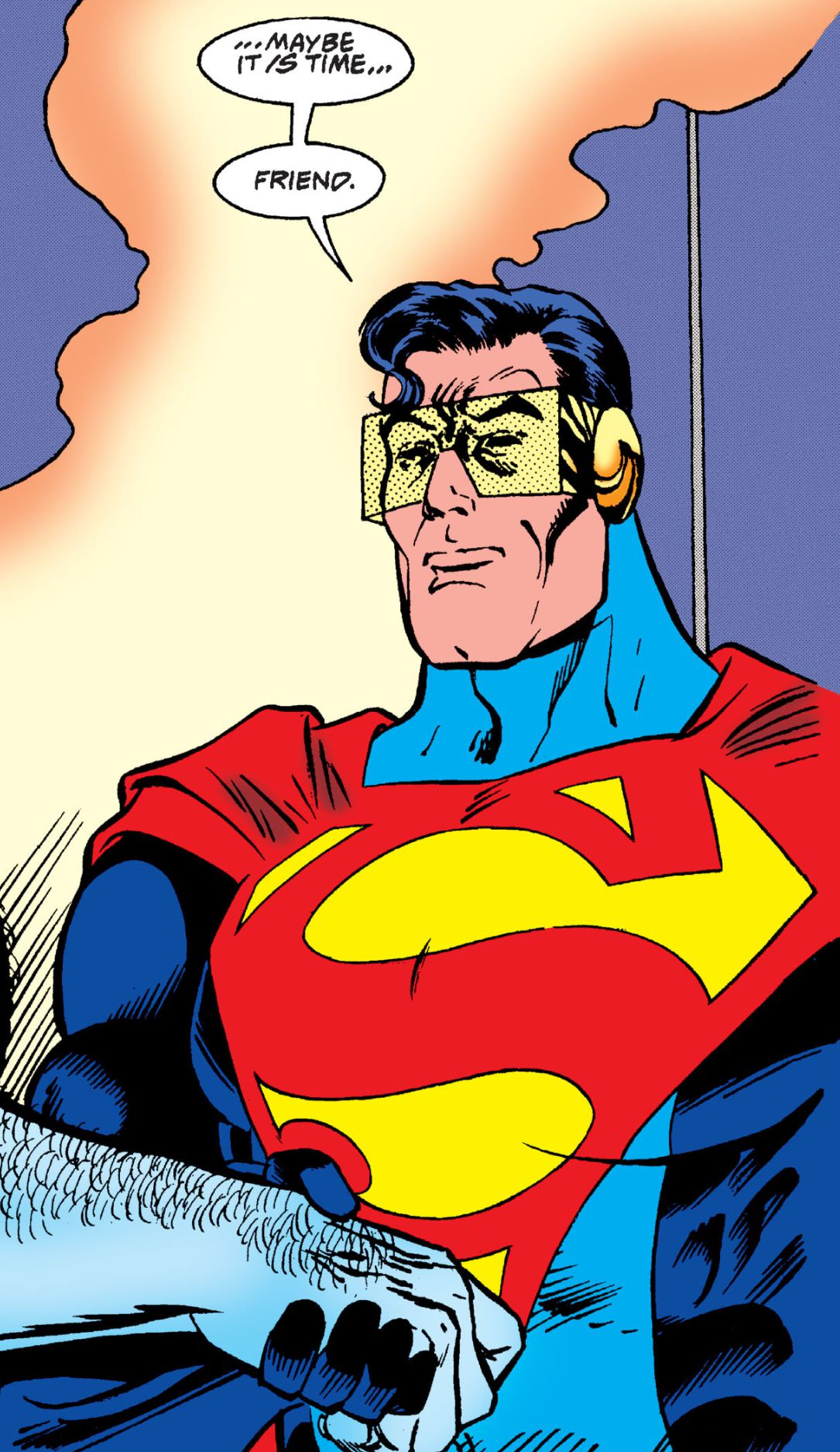 The Eradictor posing as Superman, the Last Son of Krypton, from Action Comics Annual #5 (1993), DC Comics