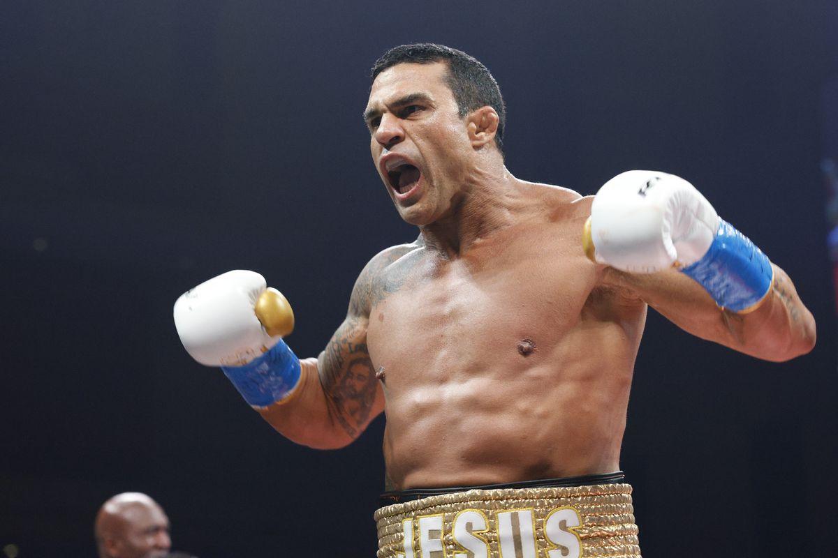 Vitor Belfort knocked out Evander Holyfield on September 11.