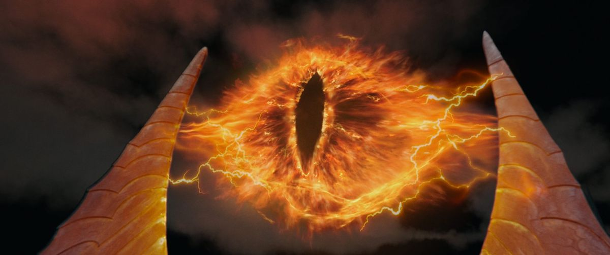 Sauron's eyes on TWo Towers