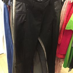 Pants with leather accents, $215 (originally $495)