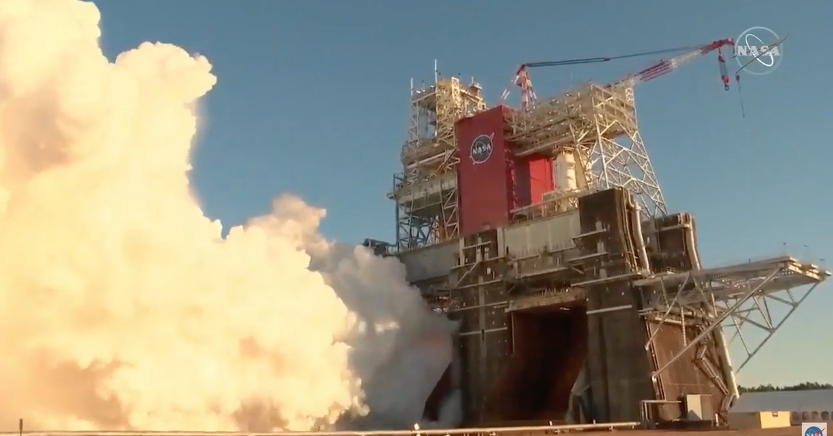 <p>Critical NASA rocket test ends early Using a shutdown thumbnail