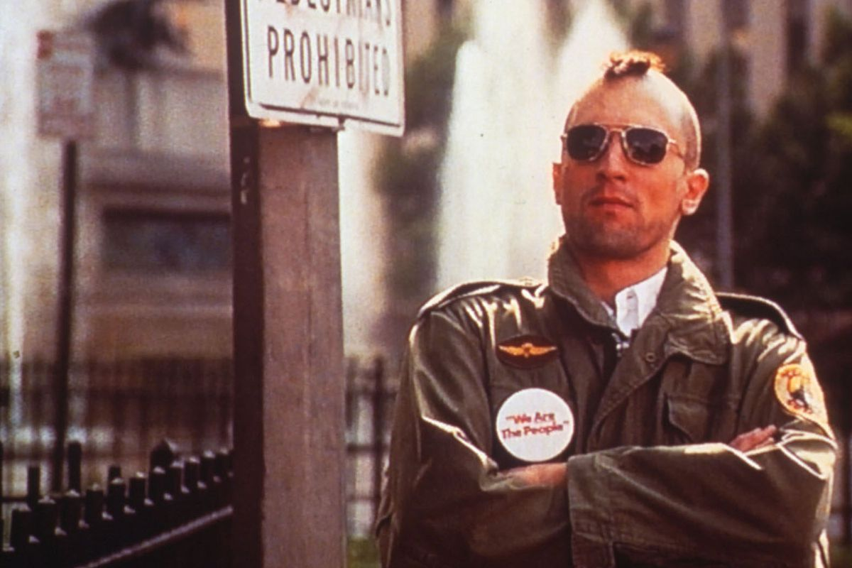 Robert De Niro as Travis Bickle in the taxi driver.