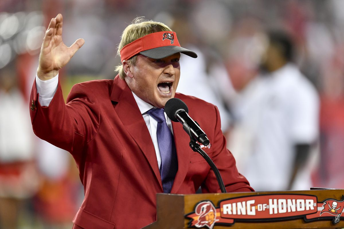 Hopefully Jon Gruden leaves his horrible NFL draft takes in the broadcast  booth 7747bf9e4