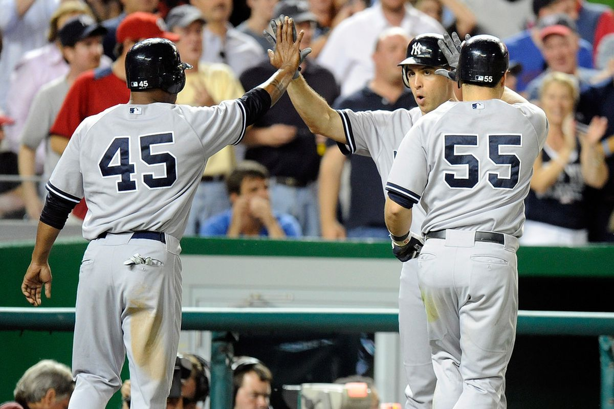 The New York Yankees have been doing a lot of celebrating recently.  (Photo by Greg Fiume/Getty Images)