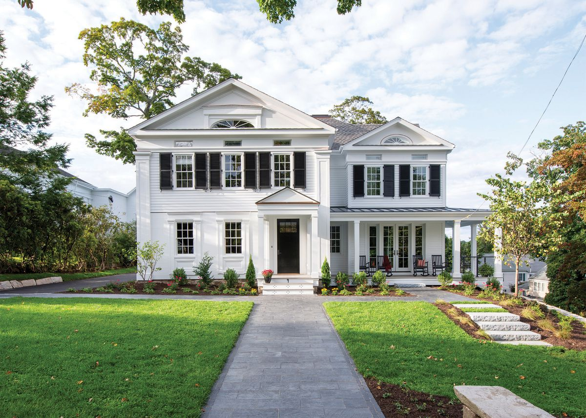 TOH 2019 New Canaan Idea House, white historic home