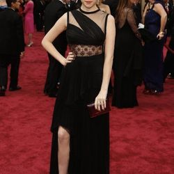"""""""<strong>Anna Kendrick</strong>. Classic case of too much going on. The dress was a mess we could never clean up. The draping mixed with the hand-sewn details and the lines on the bottom, was just bad. It looks like something you might see on a clearance"""