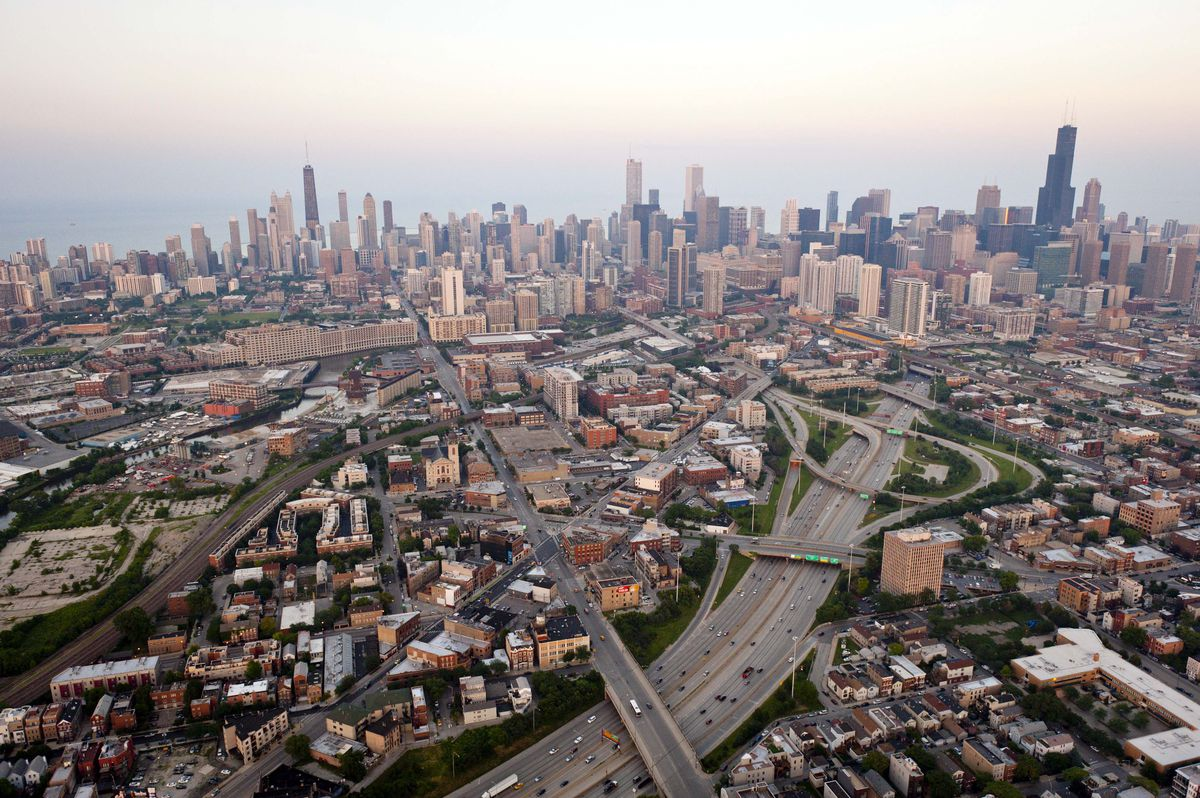 The North Branch corridor of the Chicago River is expected to be transformed over the next two decades after the City Council recently removed zoning barriers that kept out residential development.   Photo provided by City of Chicago