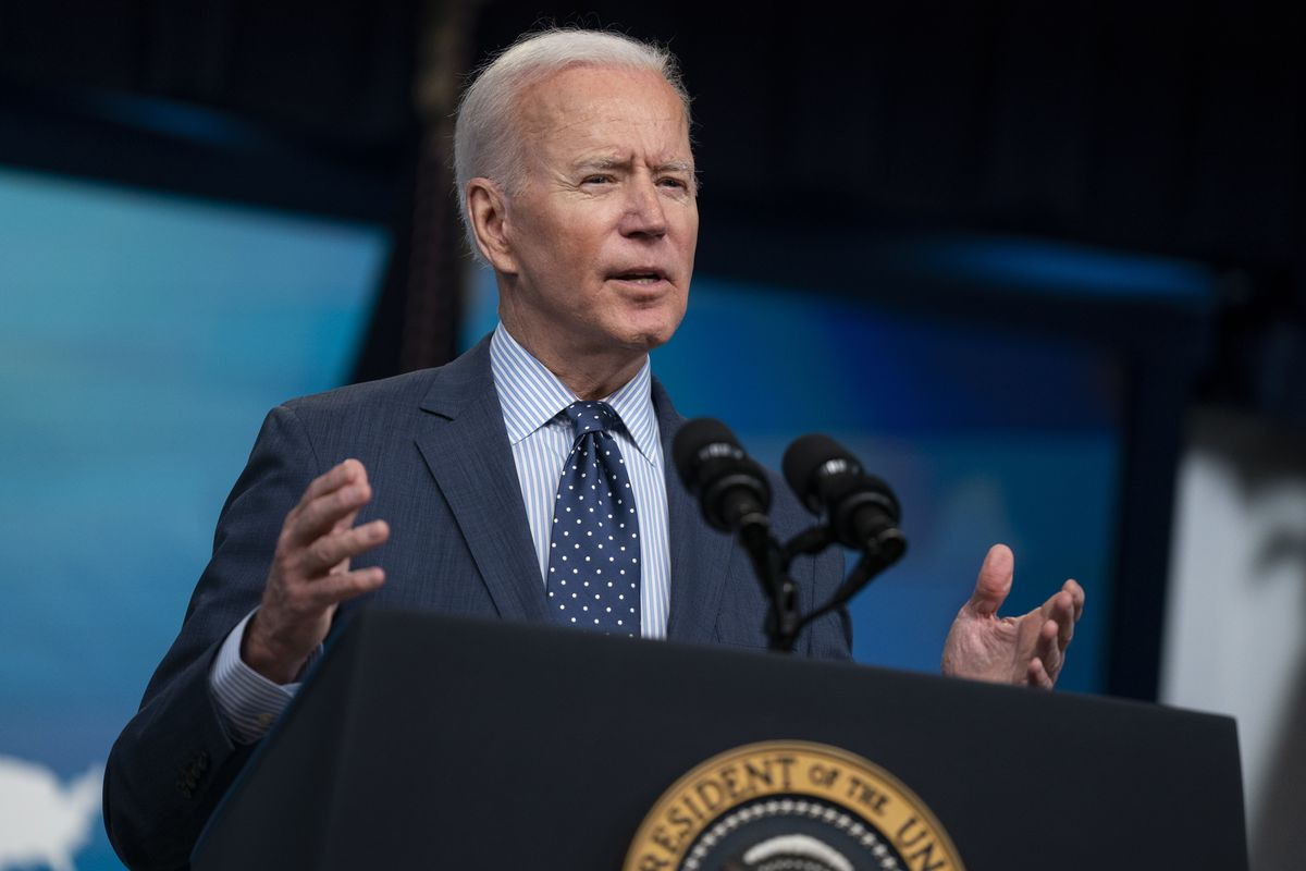 President Joe Biden speaks about the COVID-19 vaccination program, in the South Court Auditorium on the White House campus, Wednesday, June 2, 2021, in Washington.