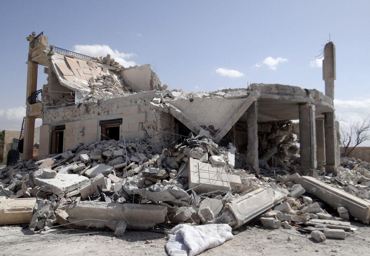 Airstrike damaged house