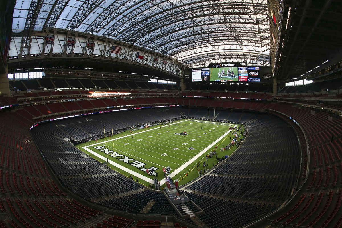 General view inside NRG Stadium before a game between the Houston Texans and the New England Patriots.