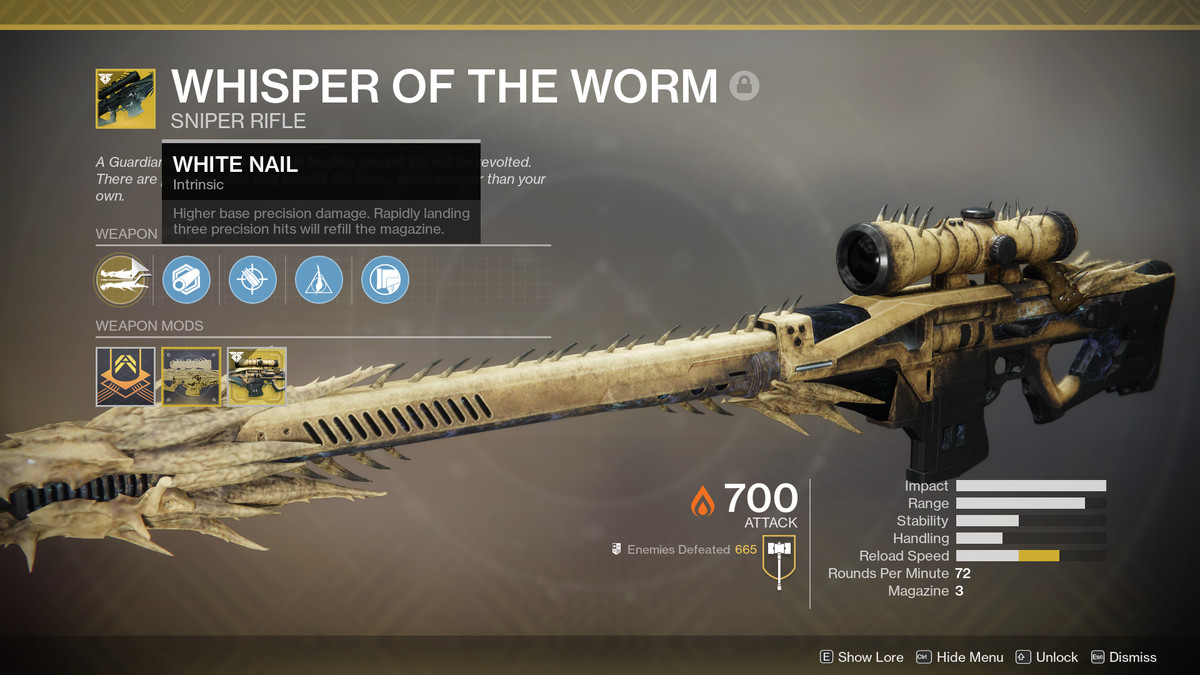 Destiny 2 Whisper of the Worm