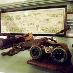 Binoculars, gear and photos from the Pony Express era are part of the collection.