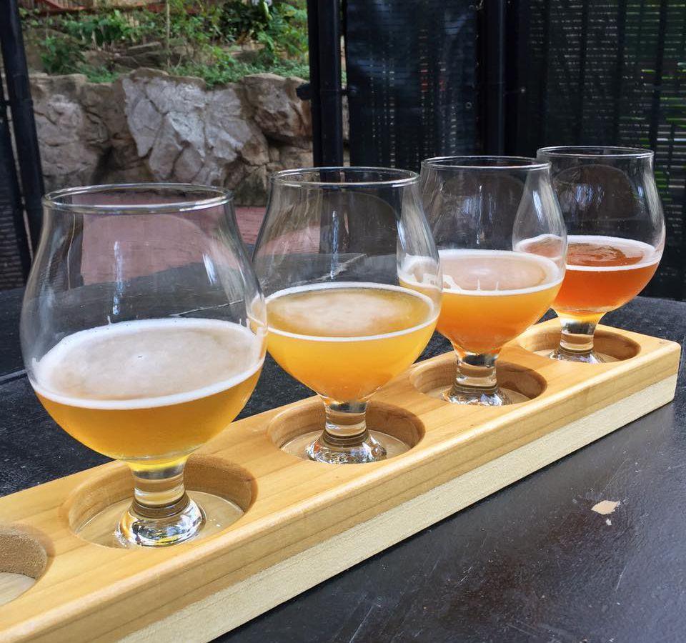 Beer flight from Easy Tiger