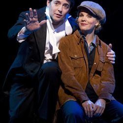 """In this publicity photo provided by Boneau/Bryan-Brown, Matthew Broderick, left, and Kelli O'Hara perform in the new musical comedy """"Nice Work If You Can Get It"""" at Broadway's Imperial Theatre in New York."""