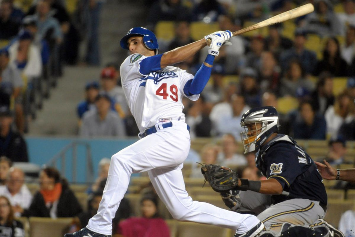 Alex Castellanos is one of several strong Dodger right field prospects