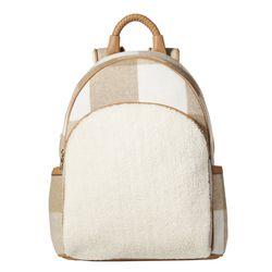 Shearling Backpack in Oatmeal Plaid, $39.99