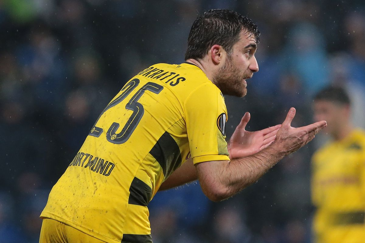 e013a4f84de Sokratis Papastathopoulos officially joins Arsenal for a reported ...