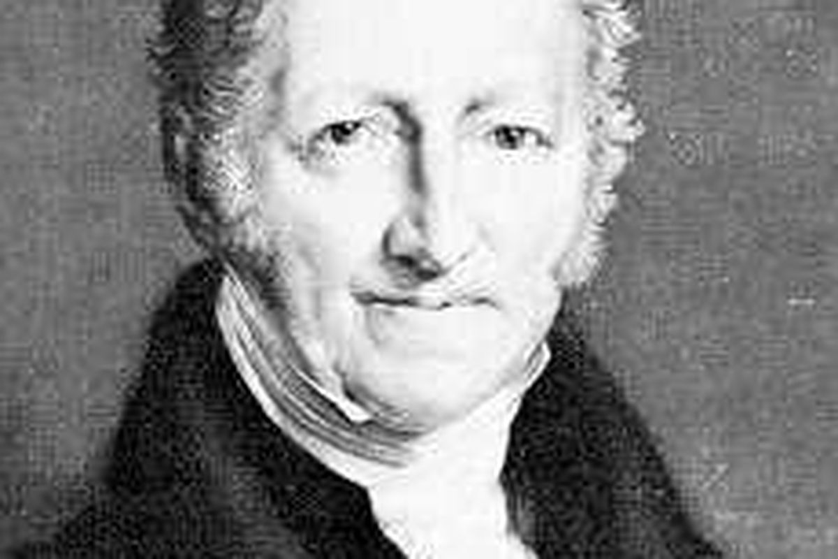 Thomas Malthus, who argued that famine and disease would prevent expansion of the Surrey League of Bowls by limiting the elite bowler population at [(pop)/(pop density)^2]/(teams per parish).