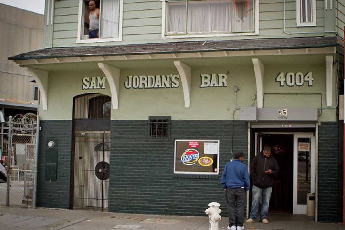 The exterior of Sam Jordan's.