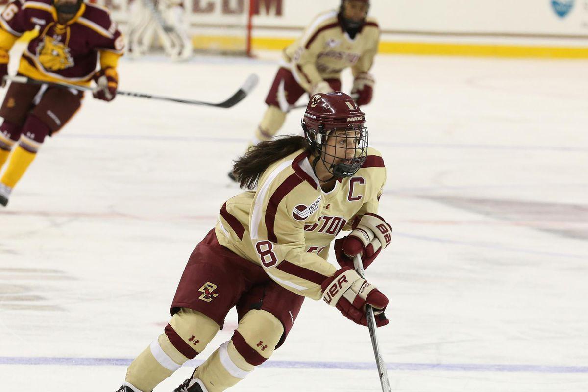 dana trivigno bceagles.com women's hockey