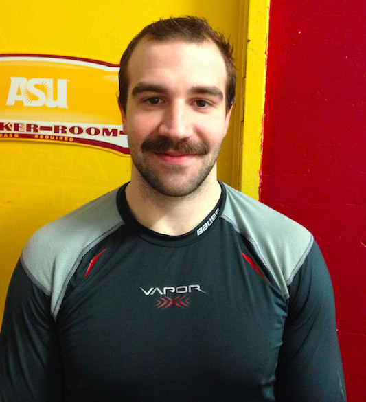 asu hockey blessing mustache