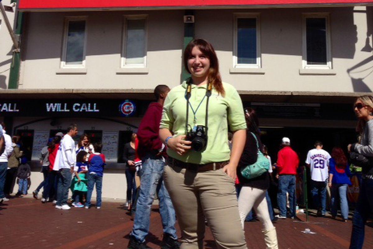 Katelyn Kelley at Wrigley Field