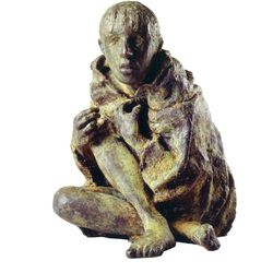 """This image provided by Quinnipiac University of a 1998 bronze sculpture by Roan Gillespie titled """"The Victim,"""" is among the artwork on display in Ireland's Great Hunger Museum on the school's campus in Hamden, Conn.  School officials say the museum, which will open on Oct. 11, 2012, has the world's largest collection of visual art, artifacts and printed materials related to the famine from 1845-52, when blight destroyed virtually all of Ireland's potato crops."""
