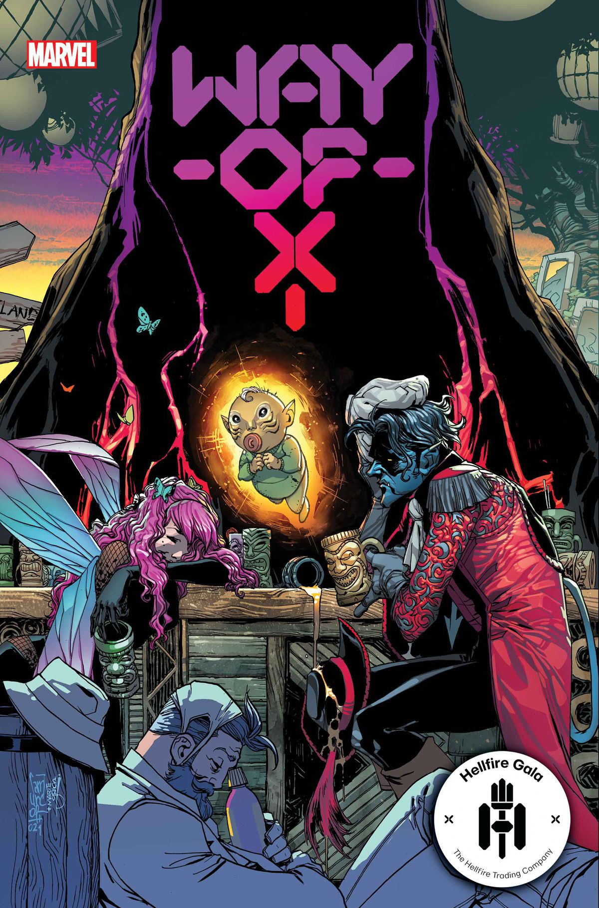 Nightcrawler is hungover as hell on the cover of Way of X #3, Marvel Comics (2021)
