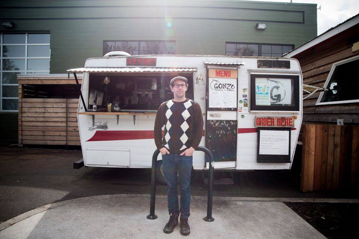Back in the day: The Gonzo food cart at Base Camp.