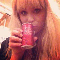 "Sophia in a can. Photo via <a href=""http://instagram.com/celebates"">Celebates</a>"