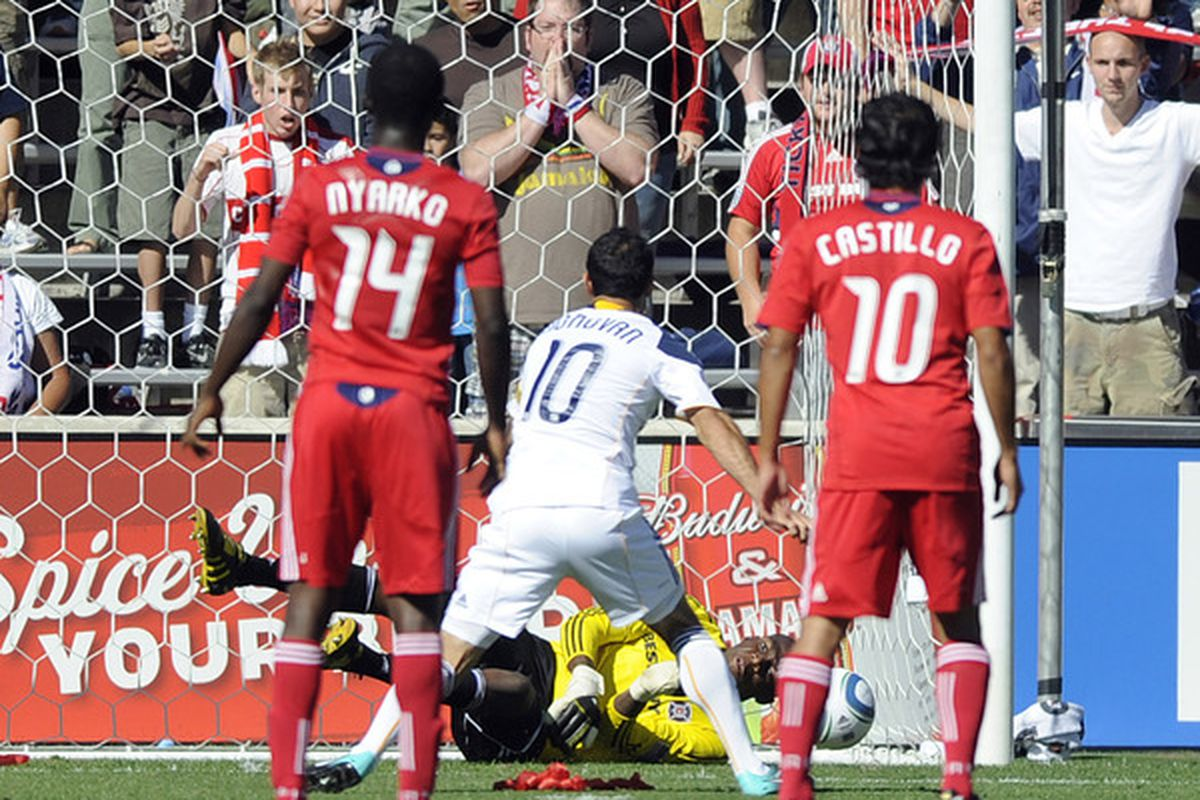 Landon Donovan has one blocked penalty kick in the MLS since 2007 - this is it right here