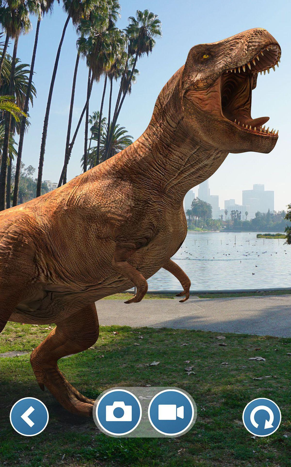 Jurassic World Alive looks like Pokémon Go but with giant