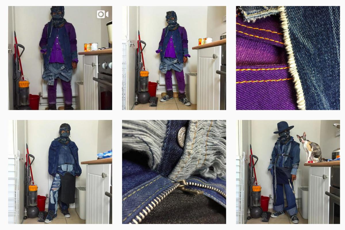 A grid shot of the Vanillajellaba Instagram account