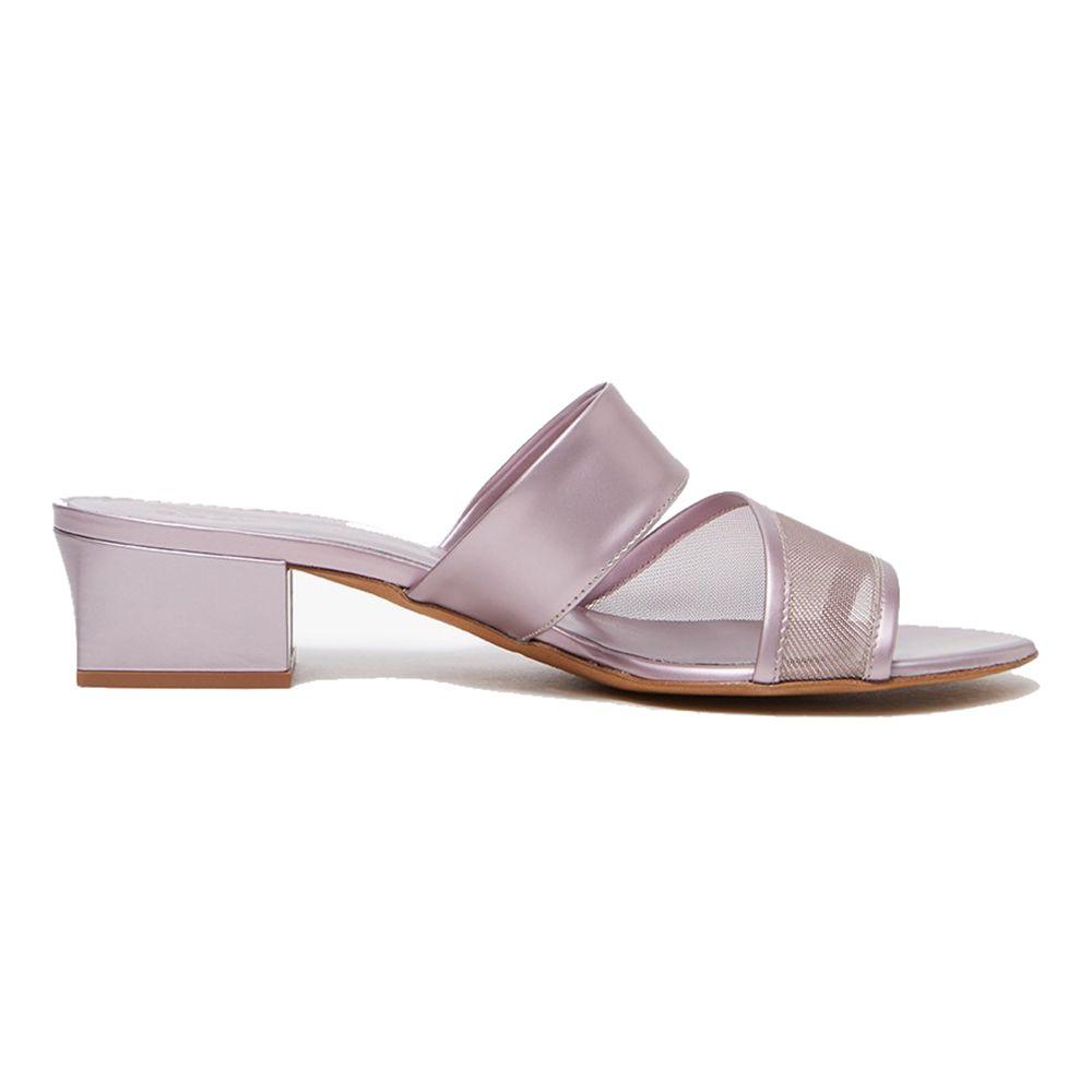 Twist mesh strap sandals