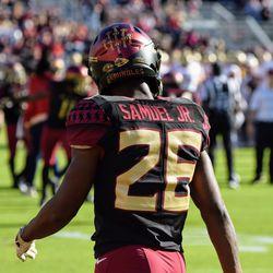 DB Asante Samuel, Jr., a true freshman, has been busy earning helmet tomahawks.
